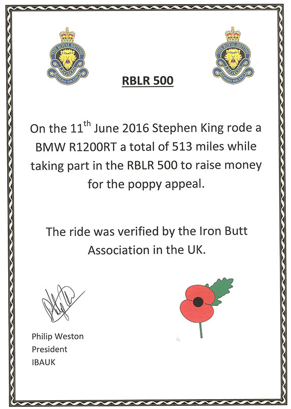 Rblr 2016 Certificate